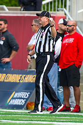 NORMAL, IL - October 05:  Gordon Hanson during a college football game between the ISU (Illinois State University) Redbirds and the North Dakota State Bison on October 05 2019 at Hancock Stadium in Normal, IL. (Photo by Alan Look)