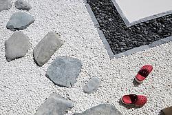 "Art installation by Taro Shinoda called ""Karesansui""  at 2015 Sharjah Biennial art festival in Sharjah united Arab Emirates"