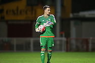 Jack Rose, West Bromwich Albion goal keeper during the Barclays U21 Premier League match between Brighton U21 and U21 West Bromwich Albion at the Checkatrade.com Stadium, Crawley, England on 25 January 2016.
