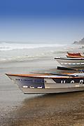 Dory Boats On The Shoreline