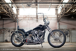 Zach and Jake Hindes Prism Supply Co 1978 Harley-Davidson Cone Shovelhead custom after the Congregation Show. Charlotte, NC. USA. Sunday April 15, 2018. Photography ©2018 Michael Lichter.