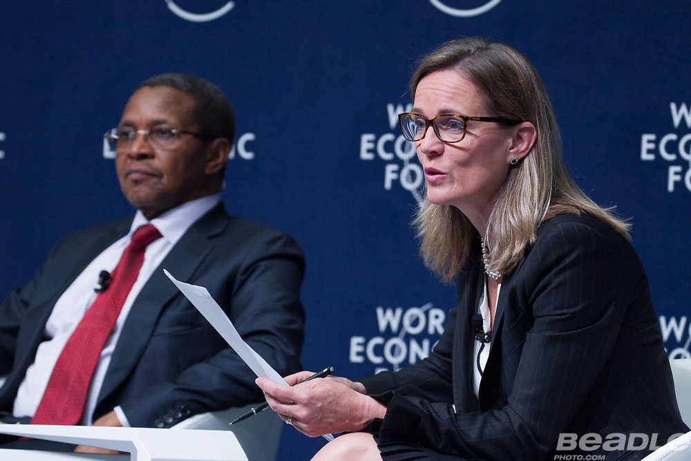 Jakaya M. Kikwete, President of Tanzania (2005-2015)<br /> Office of the President of Tanzania, Caroline Kende-Robb, Chief Adviser<br /> Education Commission at the World Economic Forum on Africa 2017 in Durban, South Africa. Copyright by World Economic Forum / Greg Beadle