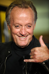 "File photo - ""Peter Fonda attends the screening of """"One Peace at a Time"""". Los Angeles, California on October 21, 2009. Peter Fonda, the star, co-writer and producer of the 1969 cult classic Easy Rider, has died at the age of 79. Peter Fonda was part of a veteran Hollywood family. As well as being the brother of Jane Fonda, he was also the son of actor Henry Fonda, and father to Bridget, also an actor. Photo by Lionel Hahn/ABACAPRESS.COM (Pictured: Peter Fonda)"""