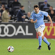 Andoni Iraola, NYCFC, in action during the New York City FC Vs Orlando City, MSL regular season football match at Yankee Stadium, The Bronx, New York,  USA. 18th March 2016. Photo Tim Clayton