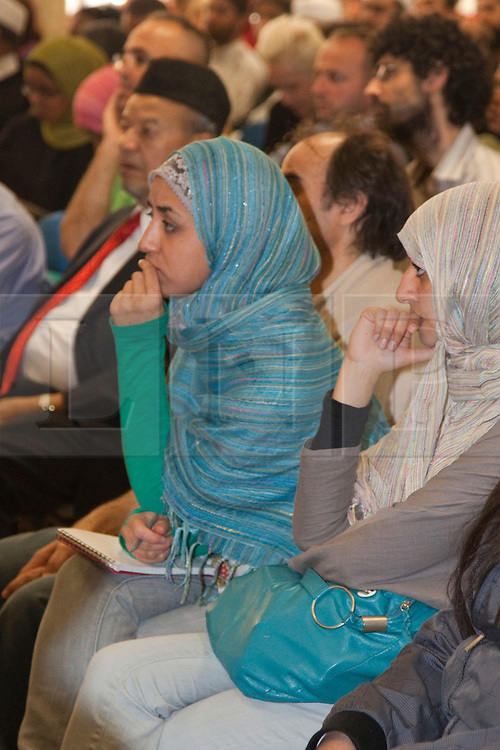 "© under licence to London News Pictures. LONDON, 21/05/2011. Audience at conference ""Confronting Anti-Muslim Hatred in Britain and Europe"". London Muslim Centre. Photo credit should read BETTINA STRENSKE/LNP"