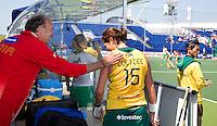 THE HAGUE - South Africa (RSA) vs England. Martijn Drijver (l) with Pietie Coetzee.  COPYRIGHT KOEN SUYK