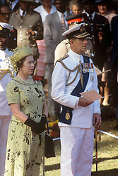 File photo dated 11/11/83 of Queen Elizabeth II and the Duke of Edinburgh during the Remembrance Day ceremony at Nairobi's Commonwealth Cemetery. The Royal couple will celebrate their platinum wedding anniversary on November 20.