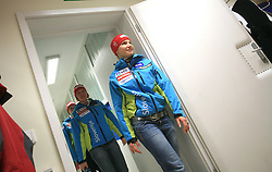 Marusa Ferk and Mateja Robnik at press conference of Women Slovenian alpine team before the World Championship in Val d'Isere, France, on January 26, 2009, in Ljubljana, Slovenia. (Photo by Vid Ponikvar / Sportida).