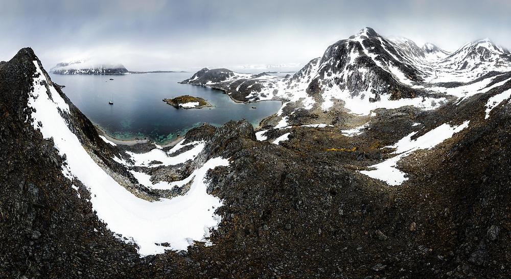 Virgohamna Bay at Nordaustland island, Spitsbergen