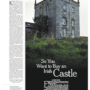 """Tearsheet of """"Rich Americans Snap Up Irish Castles for Love and Discounts"""" published in The New York Times"""