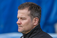 Forest Green Rovers manager, Mark Cooper during the FA Trophy 2nd round match between Chester FC and Forest Green Rovers at the Deva Stadium, Chester, United Kingdom on 14 January 2017. Photo by Shane Healey.
