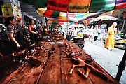 """YULIN, CHINA - JUNE 18: (CHINA OUT) <br /> <br /> The """"Dog Meat Festival""""<br /> <br /> Vendors prepare dog meat on June 18, 2014 in Yulin, Guangxi province of China. June is """"Dog Meat Festival"""" for people in China's south city of Yulin, which gave rise to a strong social reaction in China. <br /> ©Exclusivepix"""