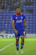 Oldham Athletic forward Dominic Polemon  during the The FA Cup first round match between Oldham Athletic and Mansfield Town at Boundary Park, Oldham, England on 17 November 2015. Photo by Simon Davies.