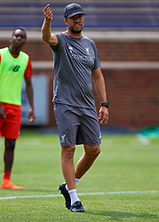 ANN ARBOR, USA - Friday, July 27, 2018: Liverpool's manager Jürgen Klopp during a training session ahead of the preseason International Champions Cup match between Manchester United FC and Liverpool FC at the Michigan Stadium. (Pic by David Rawcliffe/Propaganda)