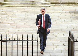 © Licensed to London News Pictures. 03/09/2014. London, UK Foreign Secretary Philip Hammond arrives at Downing Street for the COBRA meeting on 3rd September 2014. Photo credit : Stephen Simpson/LNP