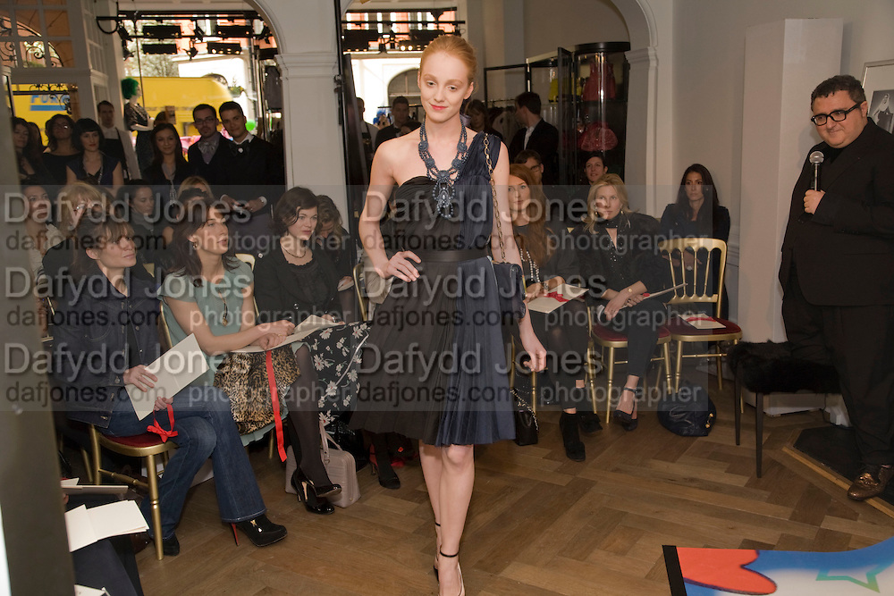 FRONT ROW INC: SHEHERAZADE GOLDSMITH;  SAMANTHA CAMERON;JASMINE GUINNESS; JANE GOTTSCHALK; ANGELA RATCLIFFE; ISABELLE MEE.; ALBER ELBAZ The Launch of the Lanvin store on Mount St. Presentation and cocktails.  London. 26 March 2009
