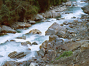 The Mo Chhu (Mother River) running along the Punakha valley in Jigme Dorji National Park, Western Bhutan
