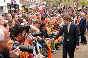 Koninginnedag 2008 / Queensday 2008. <br /> <br /> Koningin Beatrix viert Koninginnedag dit jaar in Friesland. De vorstin en haar familie bezochten op 30 april Makkum en Franeker.<br /> <br /> Queen Beatrix celebrates Queensday this year in Friesland (the Nothren provice in Holland). The Queen and its family visited Makkum and Franeker on 30 April.<br /> <br /> Op de foto/ On the Photo: Prince Floris