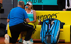 May 4, 2019 - Madrid, MADRID, SPAIN - Sofia Kenin of the United States in action during her first-round match at the 2019 Mutua Madrid Open WTA Premier Mandatory tennis tournament (Credit Image: © AFP7 via ZUMA Wire)