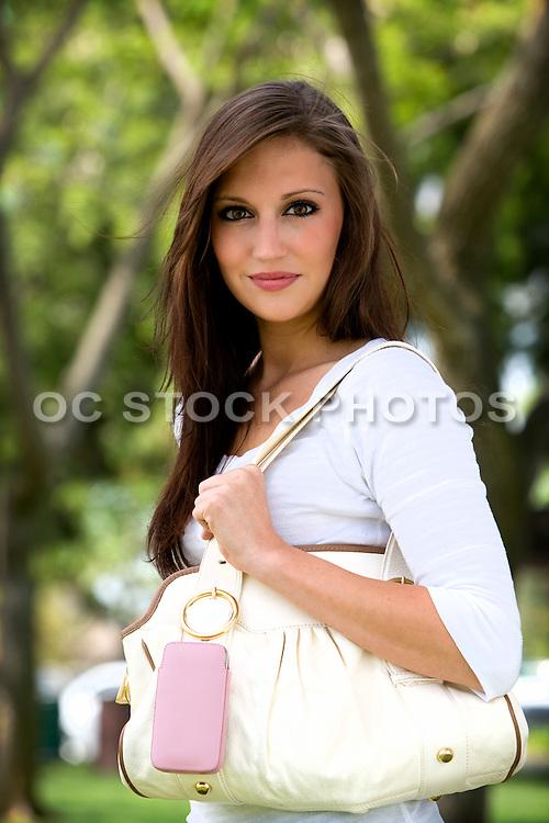 Pretty Brunette Female In Orange County
