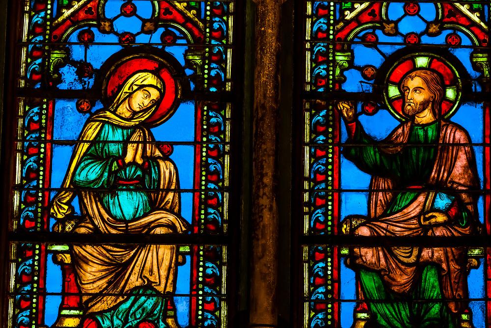 The Sainte-Chapelle is a royal chapel in the Gothic style, within the medieval Palais de la Cité, the residence of the Kings of France until the 14th century, on the Île de la Cité in the River Seine in Paris, France.