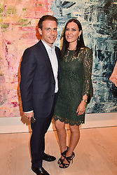 Will Stoppard and Linzi Stoppard at a preview of an exhibition of art by Sassan Behnam-Bakhtiar entitled 'Oneness Wholeness' held at the Saatchi Gallery, Duke of York's HQ, King's Rd, London, England. 14 May 2018.