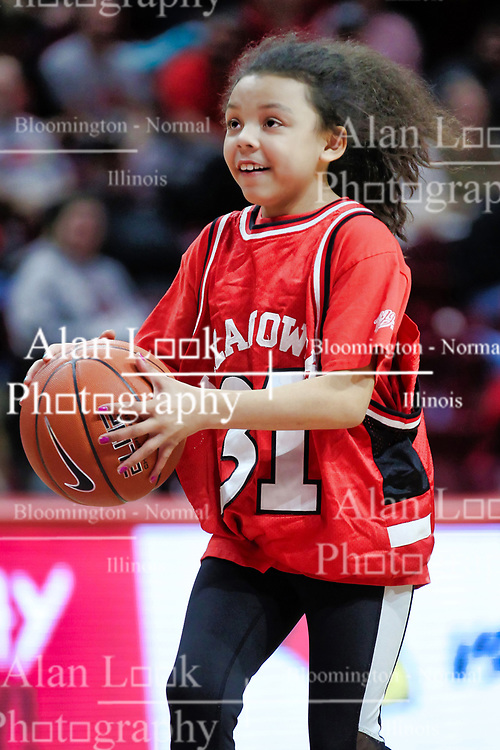 NORMAL, IL - December 16: Time out contest participant during a college women's basketball game between the ISU Redbirds and the Maryville Saints on December 16 2018 at Redbird Arena in Normal, IL. (Photo by Alan Look)