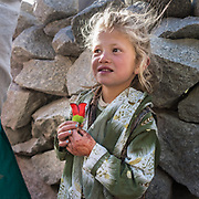 A young Wakhi girl. Stories abound that Wakhis are descendant of Alexander the great.