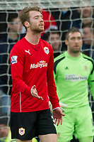Football - 2013 / 2014 Premier League - Cardiff City vs. Hull City<br /> <br /> Jo Inge Berget of Cardiff after he shoots at goal in the 88th minute at Cardiff City Stadium.<br /> <br /> COLORSPORT/WINSTON BYNORTH