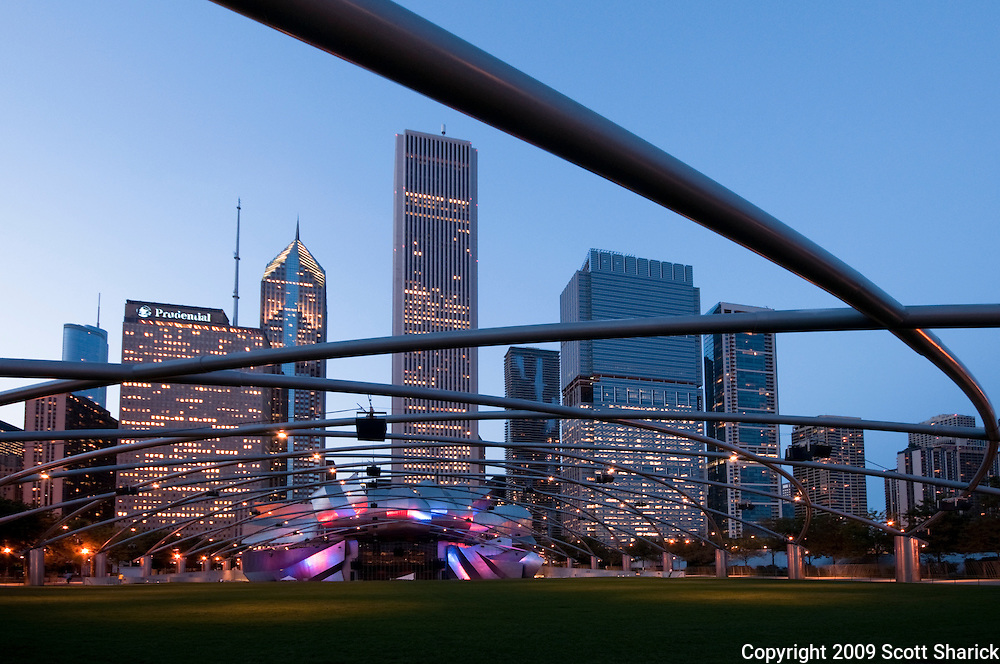 The skyline of Chicago as seen from Millennium Park. Missoula Photographer