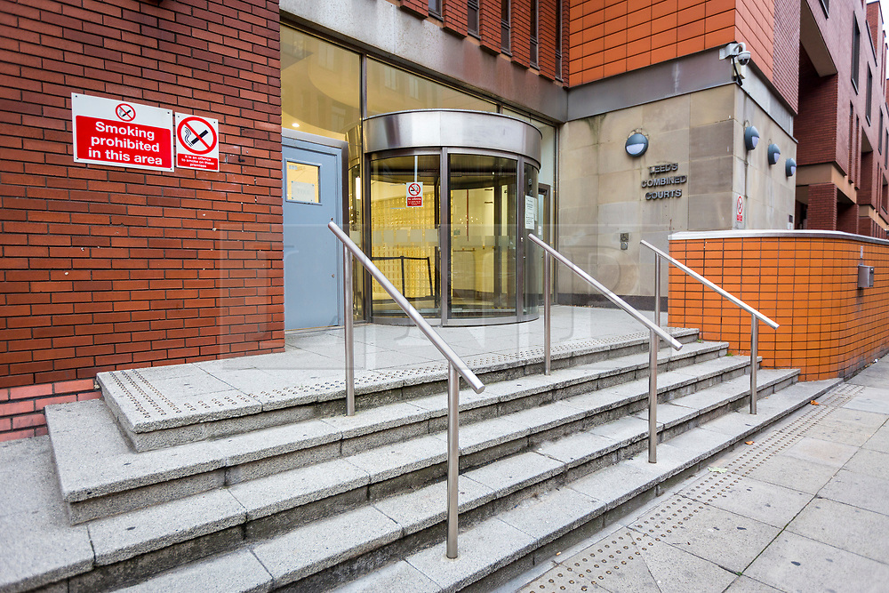 © Licensed to London News Pictures. 05/10/2018. Leeds UK. Leeds Crown Court this morning where Shahid Mohammed will appear today. Shahid Mohammed has been extradited from Pakistan where he was arrested three years ago. He has been charged with eight counts of murder & one count of conspiracy to commit arson with intent to endanger life. The charges relate to the deaths of five sisters, their mother, uncle & grandmother on May 12, 2002 in Birkby, Huddersfield. Nafeesa Aziz, 35, and her five daughters - Tayyaba Batool age 3, Rabiah Batool age 10, Ateeqa Nawaz age 5, Aneesa Nawaz age 2, and Najeeba Nawaz age six-months-old - were killed in the fire. The children's uncle Mohammed Ateeq-ur-Rehman, 18, also died in the fire and their grandmother, Zaib-un-Nisa, 54, died a week later in hospital after jumping from an upstairs window. Photo credit: Andrew McCaren/LNP
