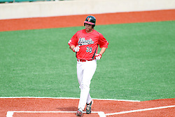06 April 2013:  Kyle Stanton trots home to score during an NCAA division 1 Missouri Valley Conference (MVC) Baseball game between the Missouri State Bears and the Illinois State Redbirds in Duffy Bass Field, Normal IL