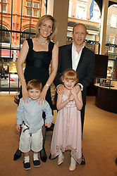 SIMON & SANTA SEBAG-MONTEFIORE and their children SASHA and LILY at a party to celebrate the publication of 'Young Stalin' by Simon Sebag-Montefiore at Asprey, New Bond Street, London on 14th May 2007.<br /><br />NON EXCLUSIVE - WORLD RIGHTS