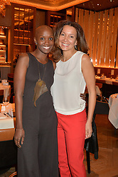 Left to right, TIFFANY PERSONS and PATRICE ABLACK at the Cash & Rocket Tour Announcement Launch Lunch in association with McArthur Glen was held at The Grill, The Dorchester, Park Lane, London on 12th March 2015.