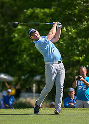 March 31, 2018 - Humble, TX, U.S. - HUMBLE, TX - MARCH 31:  Grayson Murray (USA) watches his tee shot on 2 during Round 3 of the Houston Open on March 31, 2018 at Golf Club of Houston in Humble, Texas.  (Photo by Leslie Plaza Johnson/Icon Sportswire) (Credit Image: © Leslie Plaza Johnson/Icon SMI via ZUMA Press)
