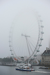 © London News Pictures. 22/10/2012. London, UK.  Fog covered London Eye in Westminster, central London on October 22, 2012 . Photo credit: Ben Cawthra/LNP