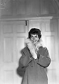 1958 - Elizabeth James Models Fashion at the Royal Hebernian Hotel