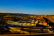 View of <br /> Cuarte de Huerva, Zaragoza, from high speed AVE train between Barcelona Sants and Madrid Atoche stations.