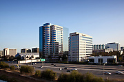 Business Buildings And The 5 Freeway In Central Irvine