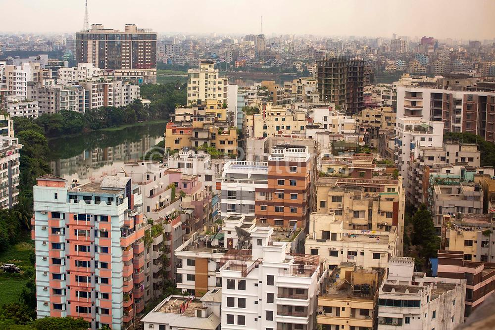 High rise living in the Gullshan 1 district of Dhaka on the 24th of September 2018 in Dhaka, Bangladesh.