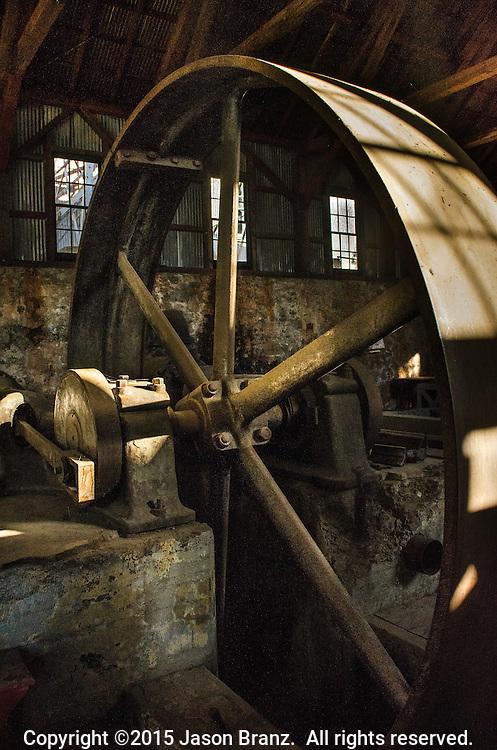 Big Wheel at Empire Mine State Park, California.