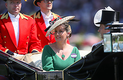 The Countess of Wessex in her carriage during day one of Royal Ascot at Ascot Racecourse.