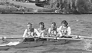 Kingston on Thames, United Kingdom.   Stroke Sue SMITH and Kate GROSE, Tideway Scullers School W4+, competing in the  final Round of the Leyland Daf Sprint series, at Kingston RC on the River Thames, Surrey, England, <br />