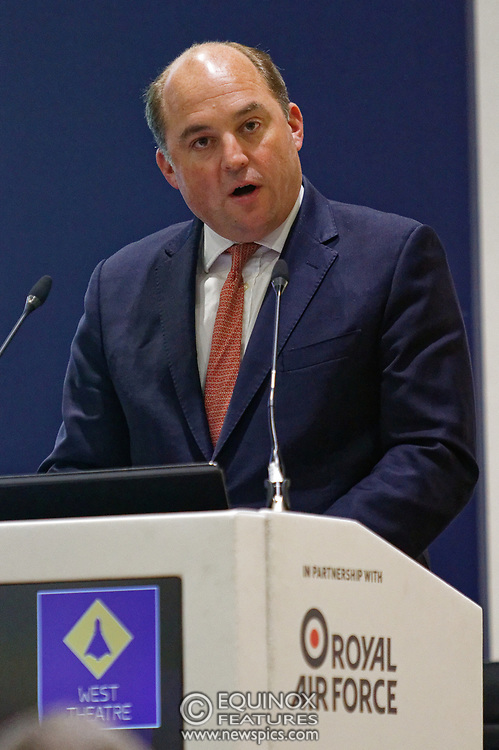 London, United Kingdom - 11 September 2019<br /> The Rt Hon Ben Wallace MP. Secretary of State for Defence for the UK Government presents keynote address speech to audience at DSEI 2019 security, defence and arms fair at ExCeL London exhibition centre.<br /> (photo by: EQUINOXFEATURES.COM)<br /> Picture Data:<br /> Photographer: Equinox Features<br /> Copyright: ©2019 Equinox Licensing Ltd. +443700 780000<br /> Contact: Equinox Features<br /> Date Taken: 20190911<br /> Time Taken: 12361624<br /> www.newspics.com