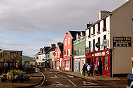 Waterfront shops and pubs on December 1, 2010 in Dingle, Ireland.