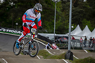 #155 (KLESHCHENKO Evgeny) RUS during round 3 of the 2017 UCI BMX  Supercross World Cup in Zolder, Belgium,