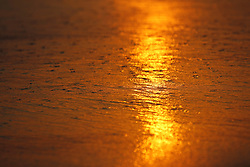 July 6, 2018 - San Diego, CA, USA - July 6, 2018 - San Diego, California, USA -  The sun reflects in the sand at Windansea Beach in the La Jolla neighborhood of San Diego on July 6, 2018. Record setting heat covered Southern California as smoke from wild fires filled the air. (Credit Image: © KC Alfred via ZUMA Wire)