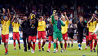 Photo: Daniel Hambury.<br />Crystal Palace v Watford. Coca Cola Championship. Play off Semi-Final, First Leg. 06/05/2006.<br />Watford's players celebrate with fans at the end of the game.