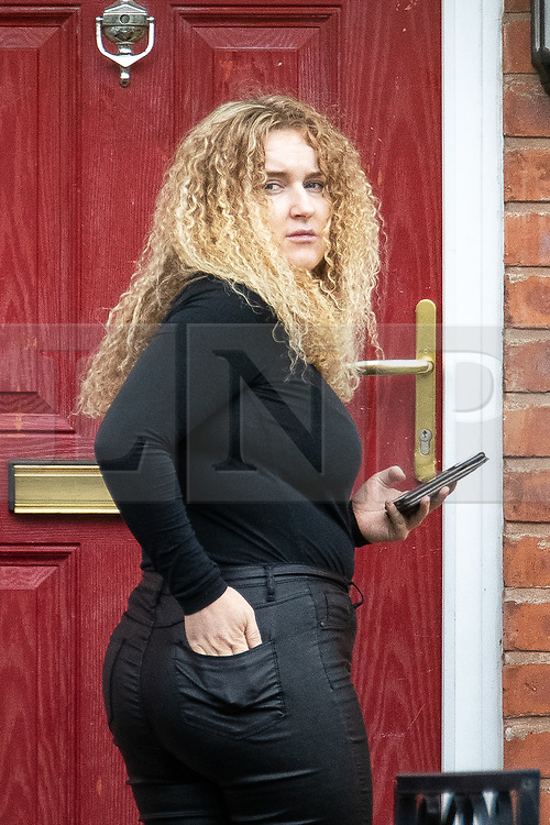 © Licensed to London News Pictures . 18/08/2020. Manchester , UK . CHARLENE PROHAM pictured outside her home on Harlow Drive in Gorton . Proham was issued with a £100 fixed penalty notice after hosting an illegal lock down party in a marquee in her garden . Police say they were pelted with missiles when they attempted to break up the event on Saturday (15th August 2020). Photo credit : Joel Goodman/LNP