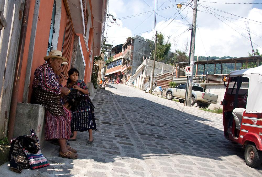 Men and women wear distinct garb in each area around the lake, San Pedro la Laguna, Lago de Atitlan, Guatemala, June 2009.  (Photo/William Byrne Drumm)